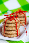 Gingerbread cookies on white plate — Stock Photo