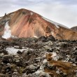 Stock Photo: Multicolored rhyolite mountain