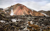 Multicolored rhyolite mountain — Stock Photo