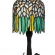 Stained glass lamp isolated — Stock Photo