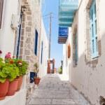 Narrow street in greek style — Stock Photo #7300613