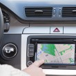 GPS navigation in modern car - Stock Photo