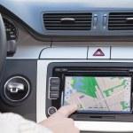 GPS navigation in modern car — Stock Photo