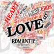 Love concept in tag cloud - Stock Photo