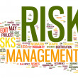 Risk management in tag cloud — Stock fotografie
