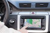 GPS navigation in modern car — Stok fotoğraf
