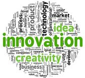 Innovation concept words in tag cloud — Stock Photo