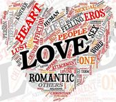 Love concept in tag cloud — Stock Photo