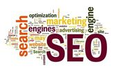 SEO in word cloud — Stock Photo