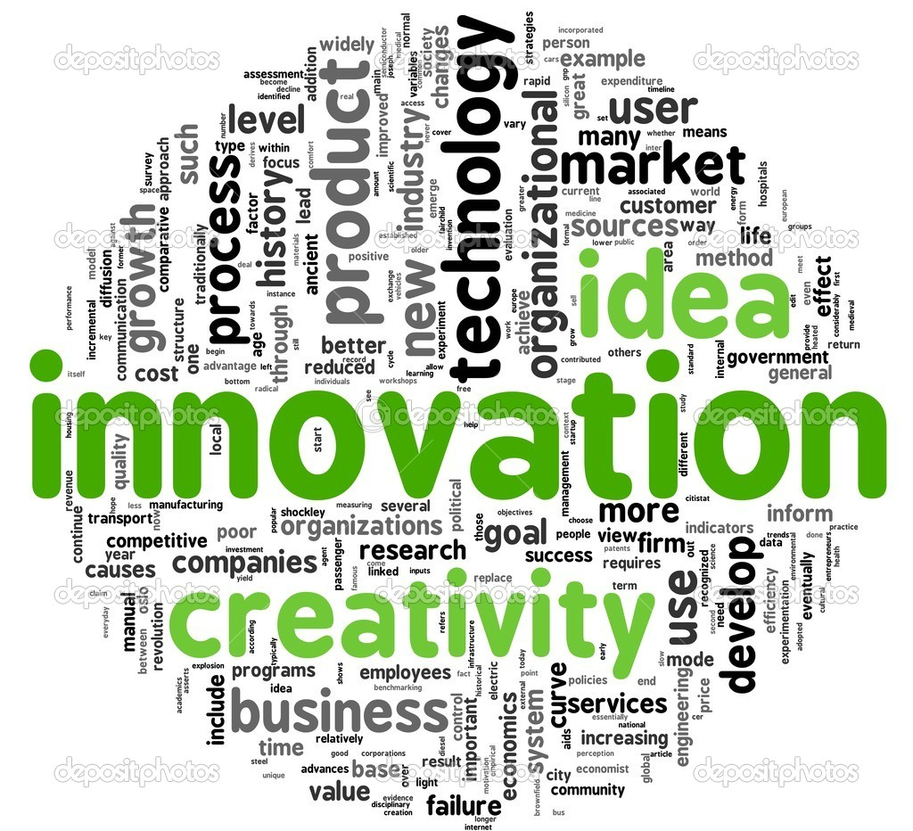 Innovation and creativity concept related words in tag cloud  Stock Photo #7301296
