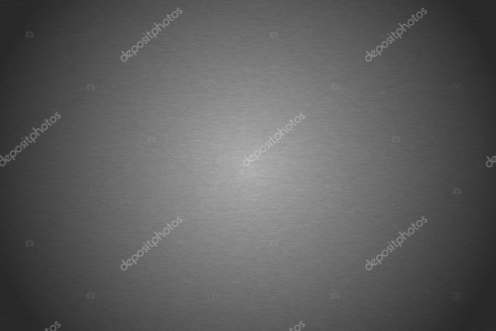 Brushed silver metallic plate useful for backgrounds — Photo #7301487