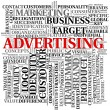 Advertising related words in tag cloud — Stock fotografie #7677331