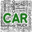 Car transport concept words in tag cloud — Stock Photo #7677349