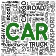 Car transport concept words in tag cloud — Stock Photo