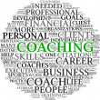 Stock Photo: Coaching concept in tag cloud