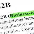 B2B Business to business definition highlighted - Stock Photo