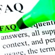 FAQ frequently asked questions highlighted — Lizenzfreies Foto
