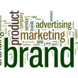 Brand related words in tag cloud — Stok fotoğraf