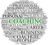 Coaching concept in tag cloud — Stock fotografie