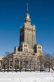 Palatset för kultur och vetenskap i vinter — Stockfoto