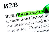 B2B Business to business definition highlighted — Stock Photo