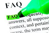 Faq часто задаваемые вопросы выделены — Стоковое фото