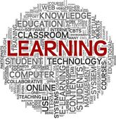 Learning concept in tag cloud — Stock Photo