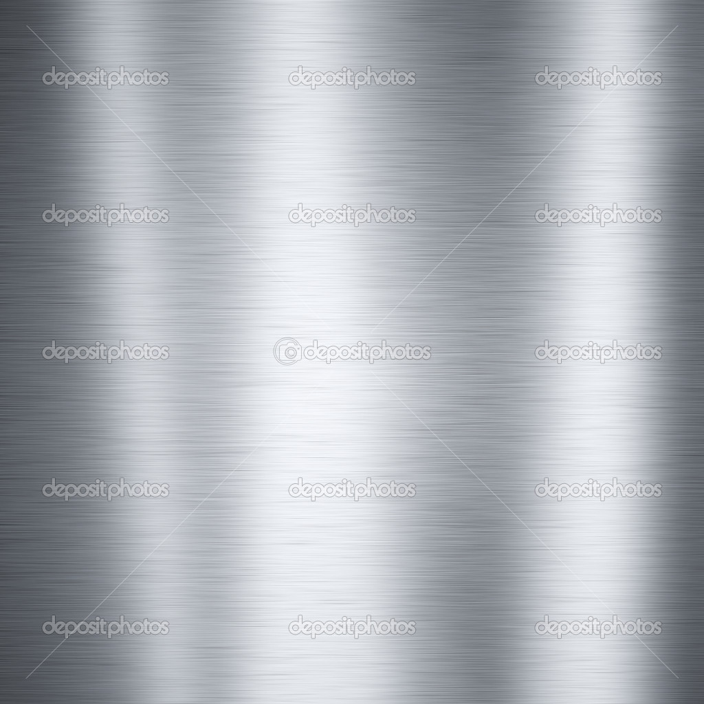 Brushed aluminum metal plate useful for backgrounds — Stock Photo #7678113