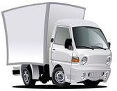 Vector de dibujos animados de camiones de entrega / carga — Vector de stock