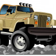 Stock Vector: Vector cartoon jeep