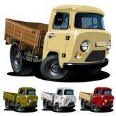 Vector cartoon 4x4 pickup one-click repaint — Stock Vector