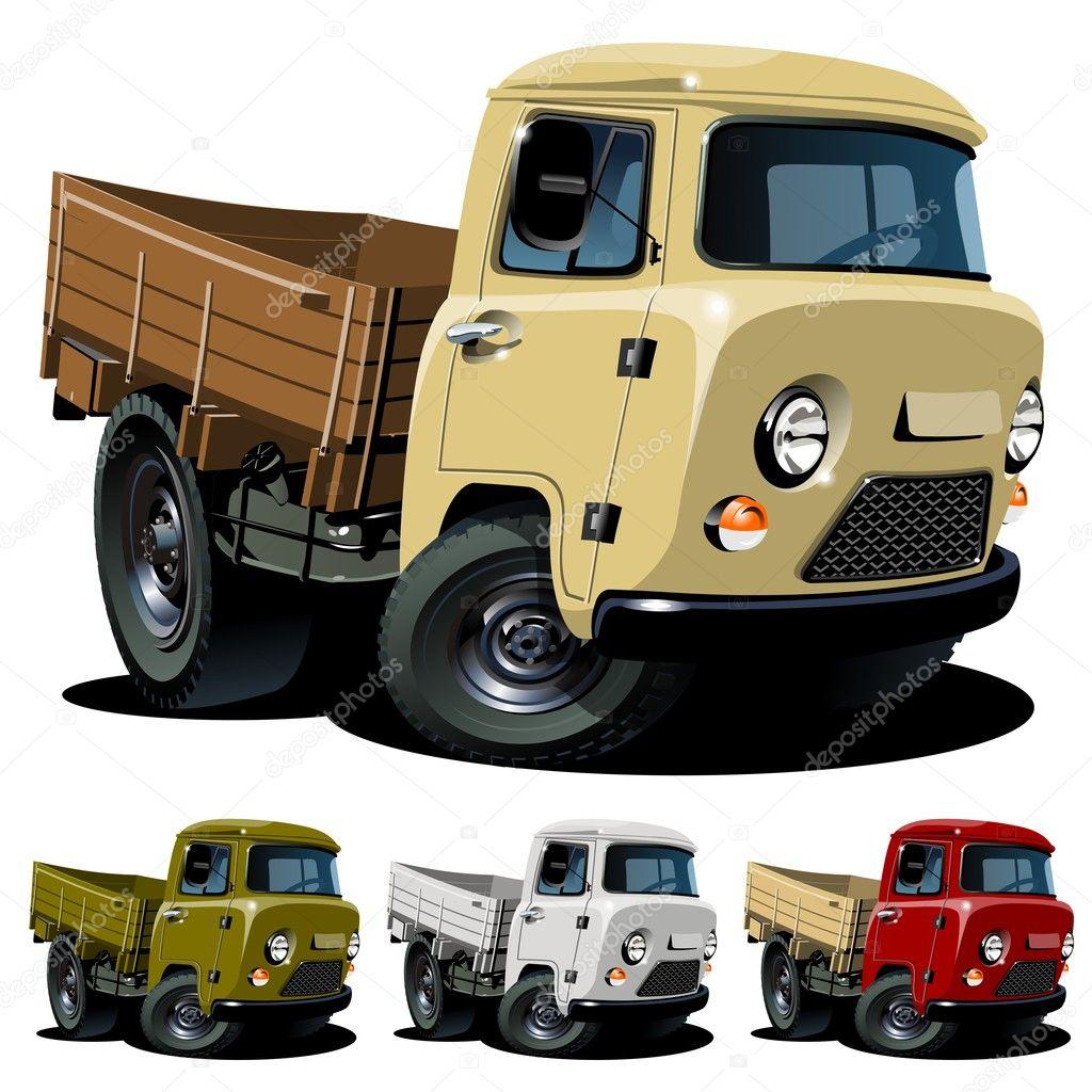 Cartoon Images of Pickup Trucks Vector Cartoon 4x4 Truck