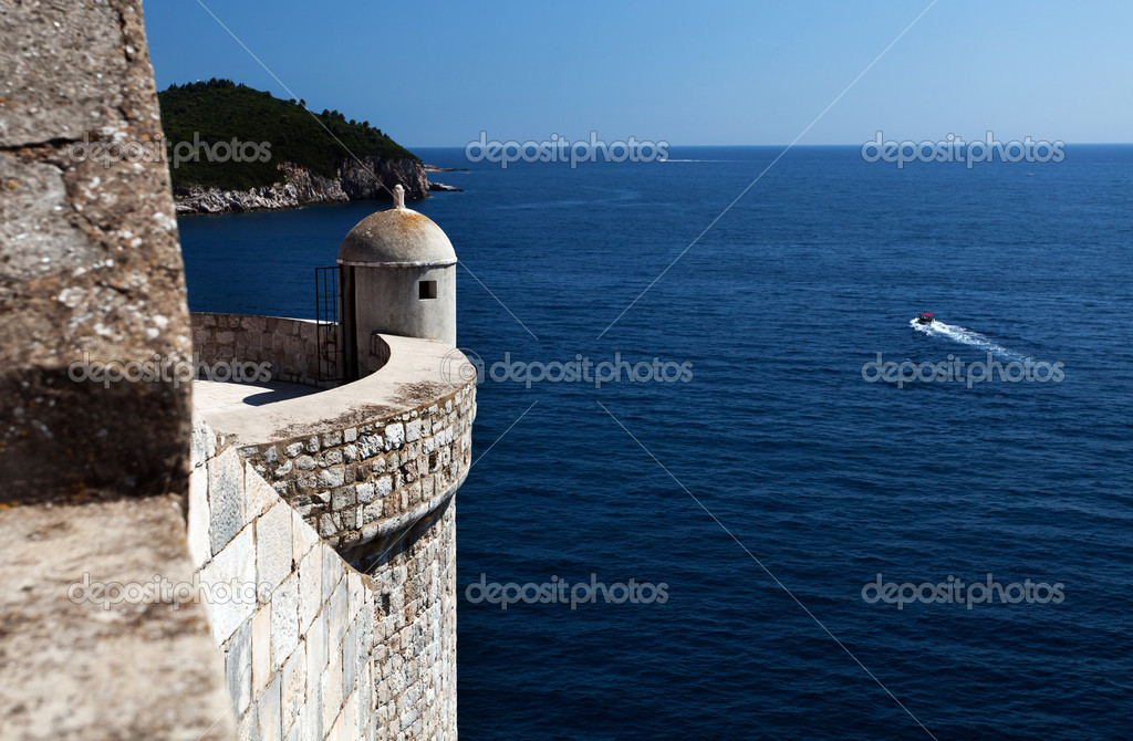 Lookout Point in Old City, Dubrovnik Croatia — Stock Photo #7421696