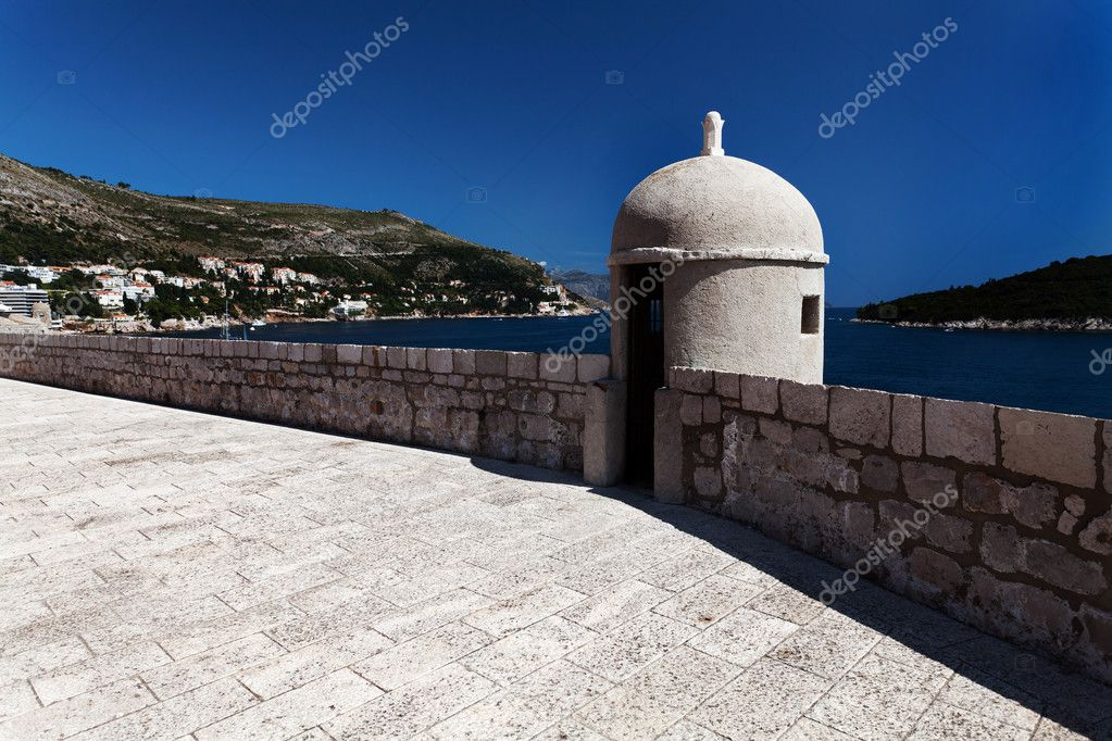Lookout Point in Old City, Dubrovnik Croatia — Stock Photo #7421712