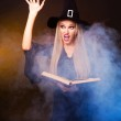 Witch conjuring — Stock Photo