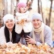 Family in the park — Stock Photo