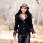 donna nel parco — Foto Stock