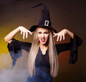 Angry witch — Stock Photo