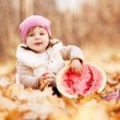 Baby with watermelon — Stock Photo