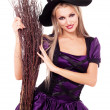 Royalty-Free Stock Photo: Young blond witch