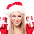 Woman with presents — Stock Photo