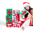 Girl with presents — Stock Photo #7321544