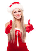 Kobieta w stroju świętego mikołaja — Zdjęcie stockowe