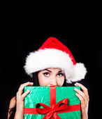 Woman with a present — Stock Photo