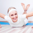 Woman working out — Stock Photo #7369653
