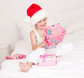 Child celebrating Chritmas — Stock Photo