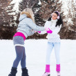 Girls ice skating — Stock Photo #7510698