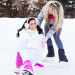 Girls ice skating — Stock Photo #7511374