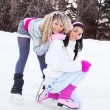 Girls ice skating — Stock Photo #7511381