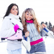 Girls ice skating — Stock Photo #7511937